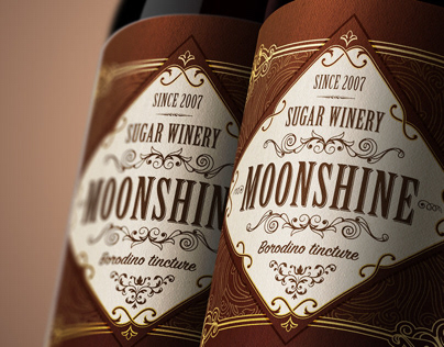 Moonshine bootle label