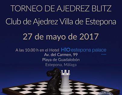 Carteles Torneo Ajedrez Blitz C.Ajedrez V. Estepona