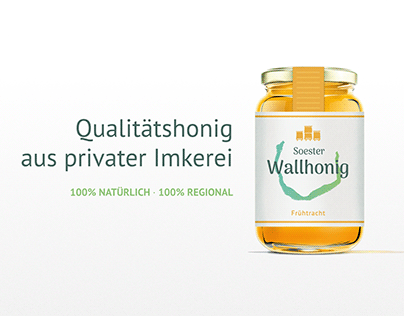 Soester Wallhonig Labeldesign
