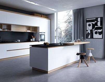 Renderings of the kitchen design