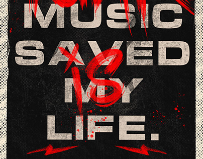 PUNK MUSIC SAVED MY LIFE | Poster Design