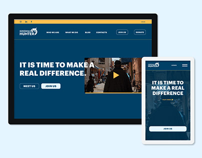 Visual Web Design - Fight Hunger Association