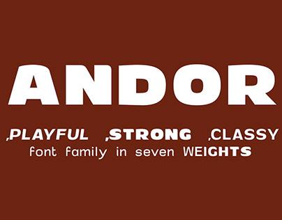 ANDOR Font Family