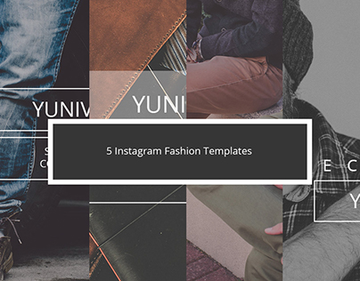 5 Fall Fashion Instagram Templates