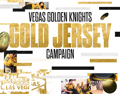 Vegas Golden Knights Gold Jersey Reveal Campaign