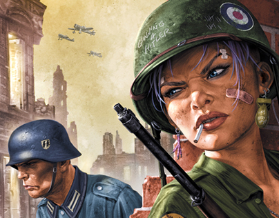 'World War Tank Girl' cover art