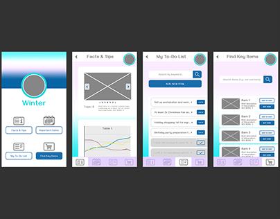 4 seasons: UI design - themes