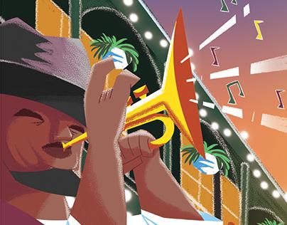 Travel Illustration - New Orleans
