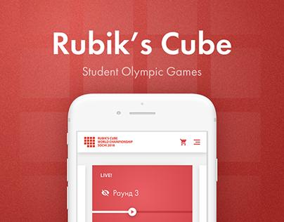 Rubik's Сube | UX & UI