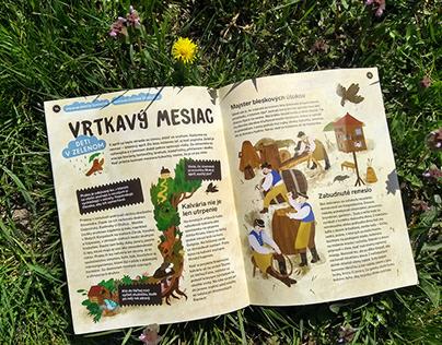 Illustration for children´s magazine Slniečko