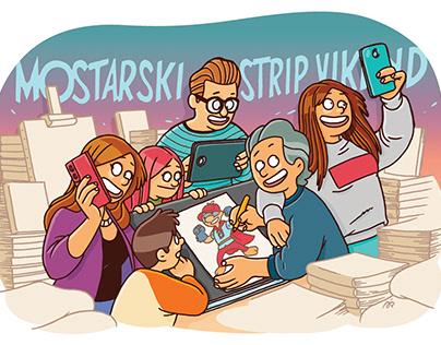 Ilustracije za HEJ i Mostarski strip vikend