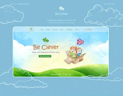 Kids smart club landing page. Web design & development