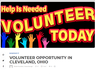 Volunteer Opportunity in Cleveland, Ohio