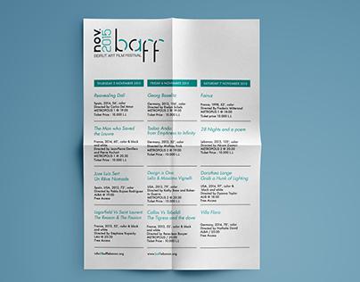 BAAF (Beirut Art Film Festival) Brochure