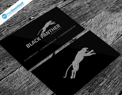 Black Business Card Free Psd