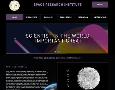 Uzay Araştırma Enstitüsü Web tasarım çalışması