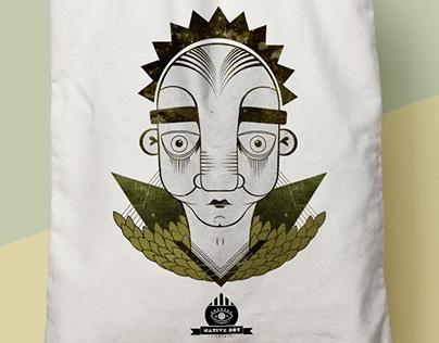 Ilustración textil Native Boy