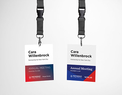 Partnership for New York City Annual Meeting Badges
