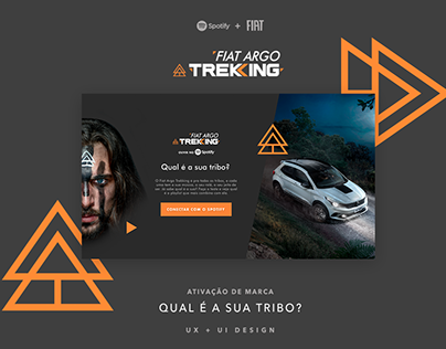 Fiat Trekking + Spotify | UX & UI Design