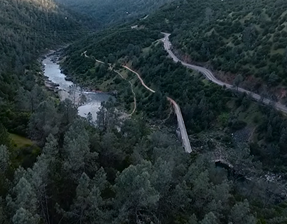 American River Drone Footage