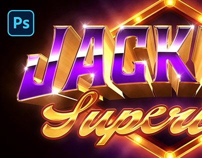 Jackpot Text and Logo Effect PSD Template
