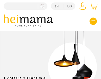 HeiMama Home Page Mobile Layout