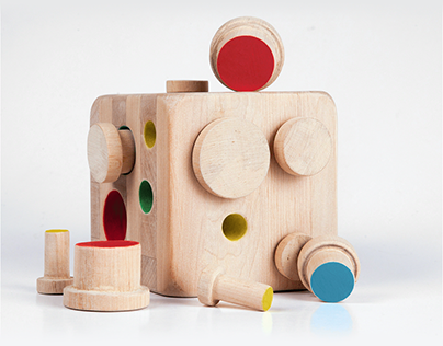 Wood toy COLOR CUBE