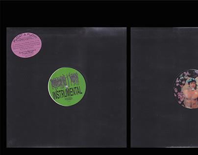 "Vinyl cover design ""Resuscita i morti- Instrumental Ed"