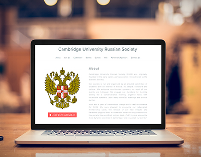 Website for Cambridge University Russian Society