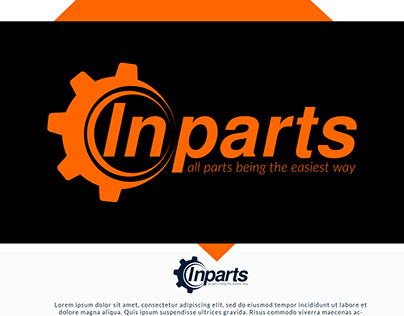 Inparts Logo Design
