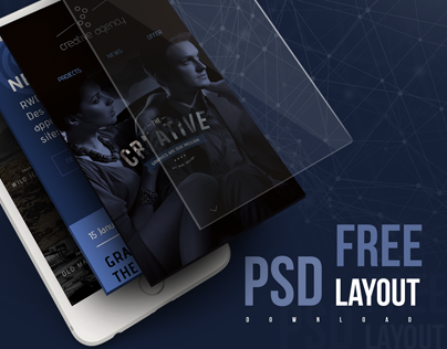 Free layout psd. Creative Agency for you