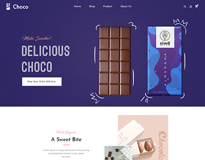 Chocolate - E commerce Frontpage