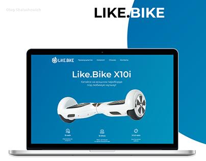Like.Bike Landing Page