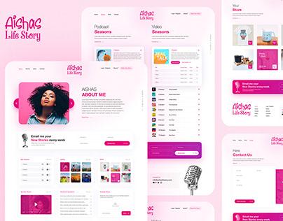 Aishas Life Story - Podcast UI/UX Website Design