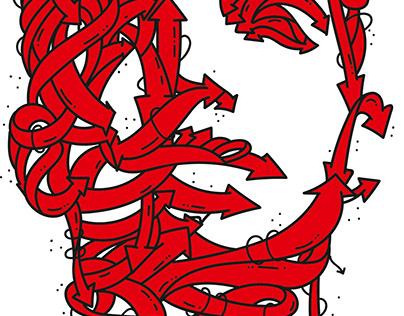 Drake - A portrait of famous rapper
