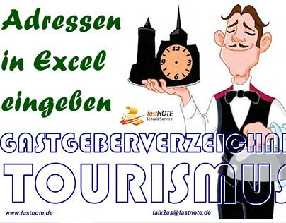 Gastgeberverzeichnis Tourismus Adressen in Excel