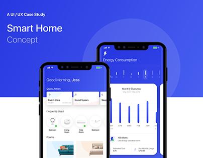 Smart Home Concept | UI/UX Case Study