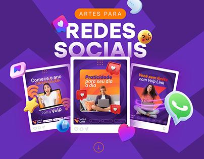 Artes para redes sociais | Social Media Volp Link