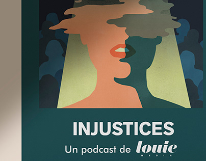 Podcast illustrations / Injustices by Louie Media