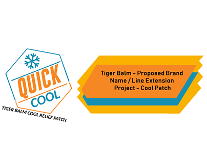 Tiger Balm Cool Patch Logo Design