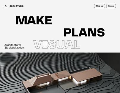 Website and mobile version design for Gork Studio