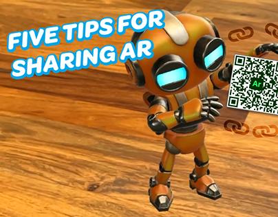 Five Tips for Sharing yourAdobe Aero Scene