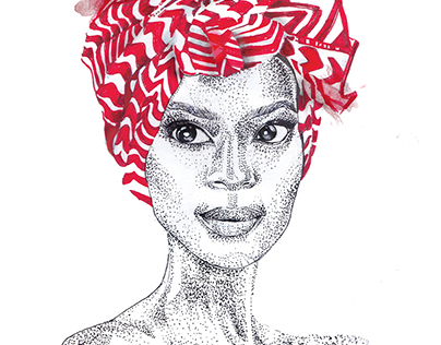 Some lady with headwrap