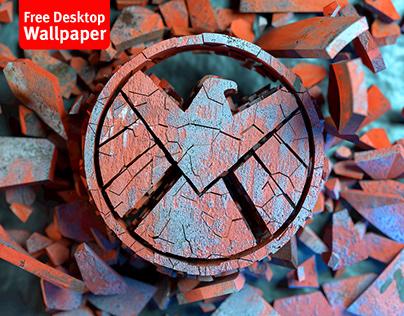 Avengers Fan art - SHIELD 3D abstract logo