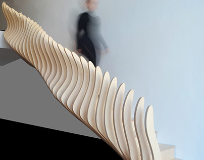 Moiré ascent staircase by Sophia Michopoulou