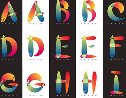 A to Z logo alphabet