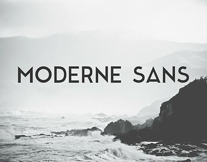 Moderne Sans - Clean Typeface