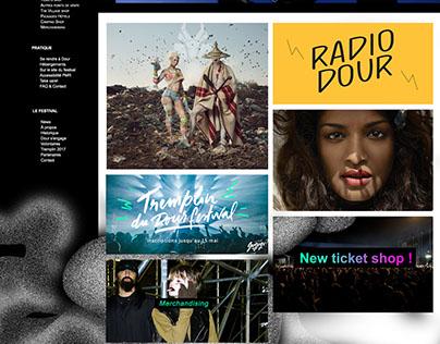 Maquette Site Web: Festival Dour