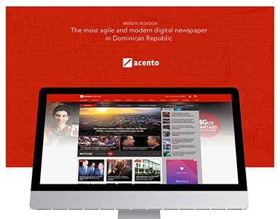 Acento: Website Redesign