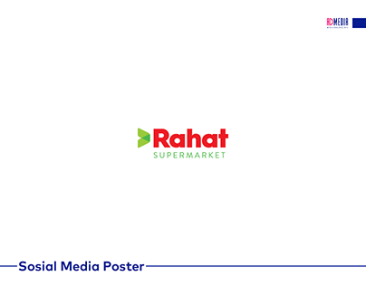 Rahat market üçün hazırlanmış sosial media posterləri